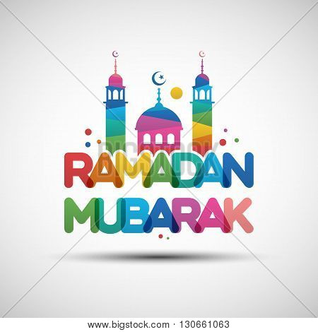 Ramadan Mubarak Greeting Card Design