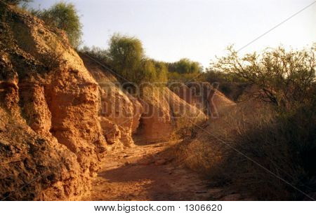Stock Photo Of Ancient River Bed, Argentina