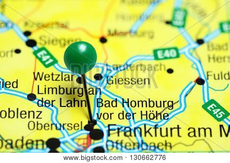 Bad Homburg vor der Hohe pinned on a map of Germany
