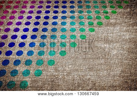 art grunge ragged color abstract pattern illustration background multicolor dots