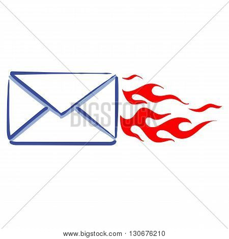 express mail message web line icon sending a message