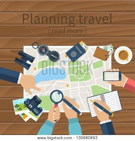 Travel Planning, Vector.