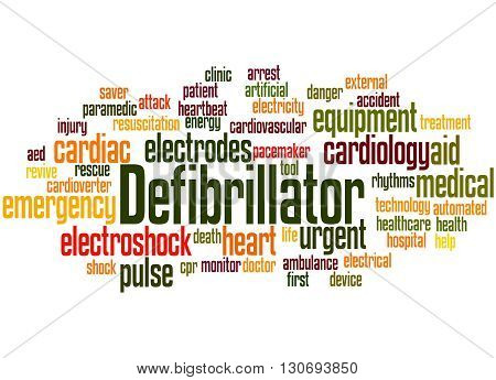 Defibrillator, Word Cloud Concept