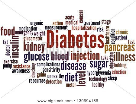 Diabetes, Word Cloud Concept 9