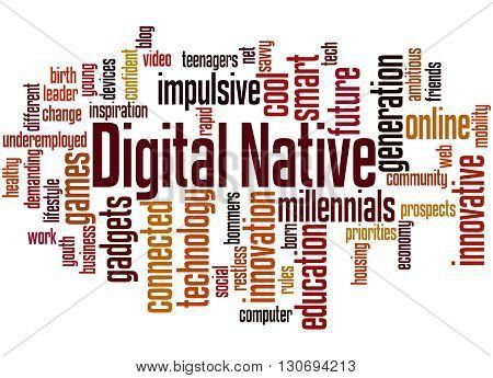 Digital Native, Word Cloud Concept 2