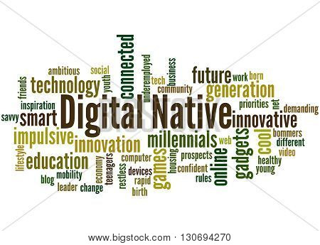 Digital Native, Word Cloud Concept 7