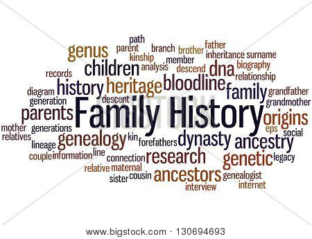 Family History, Word Cloud Concept 8