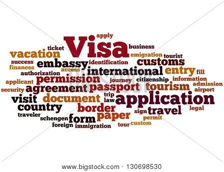 Visa Application, Word Cloud Concept