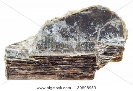 Stone Of Muscovite (common Mica) Isolated