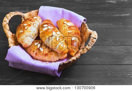 Delicious Fresh Almond Croissants