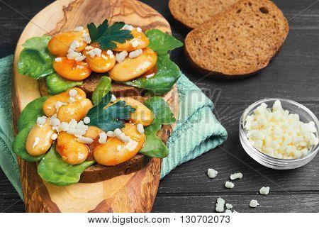 Tapas Sandwiches With Giant White Beans