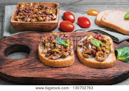 Two Bruschetta Sandwich