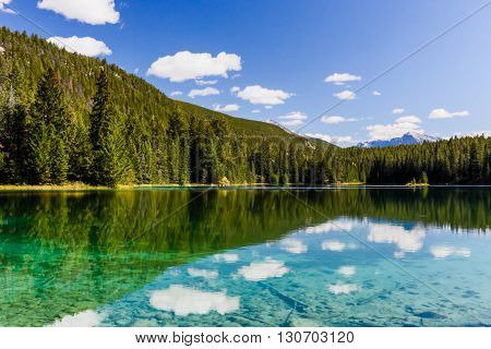 Fifth Lake, Valley Of The 5 Lakes, Jasper National Park, Alberta, Canada