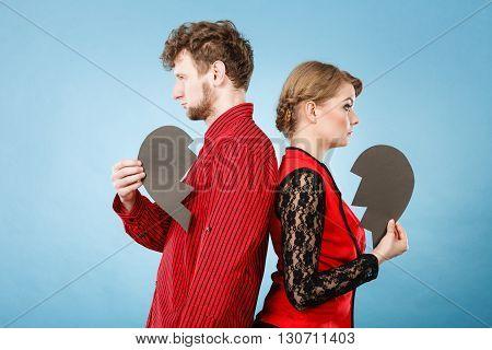 Heartbroken Couple Standing Together.
