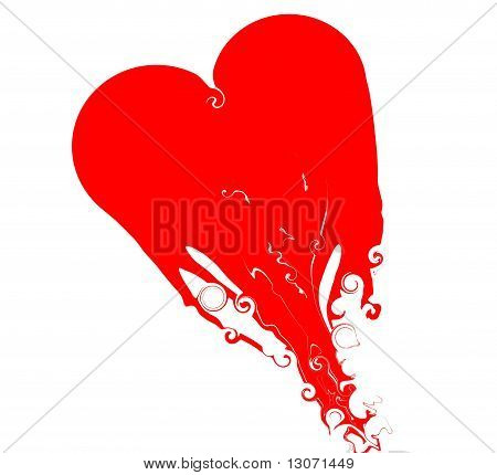 Fizzing, melting heart Valentine