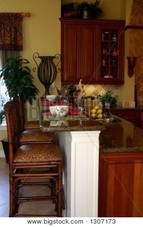 Modern American Kitchen Breakfast Bar In Home