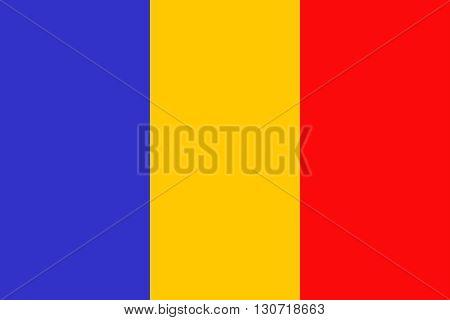 Flag of Romania. Romania flag vector illustration.