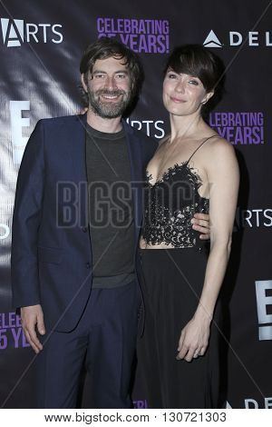 LOS ANGELES - MAY 20:  Mark Duplass, Katie Aselton at the PS Arts - The Party at NeueHouse Hollywood on May 20, 2016 in Los Angeles, CA