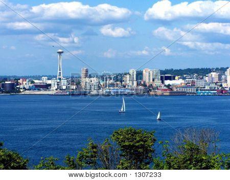 Seattle Space Needle & Boat