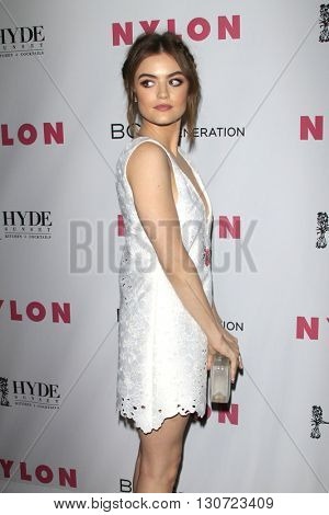 LOS ANGELES - MAY 12:  Lucy Hale at the NYLON Young Hollywood May Issue Event at HYDE Sunset on May 12, 2016 in Los Angeles, CA