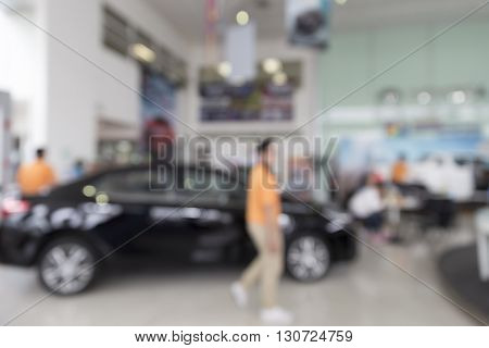 People In Car Showroom For Buyring And Selling Car Business