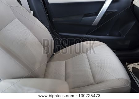 New Fabric Passenger Seat In Car
