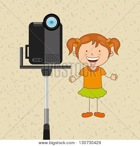 children and camera design, vector illustration eps10 graphic