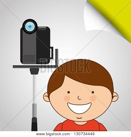 children and camera design, vector illustration eps10 graphic