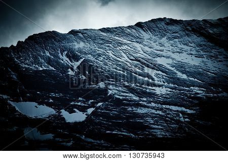 Eiger nordwand, Swiss Alps - snow capped mountains and deep valleys stunning view breath-taking panorama