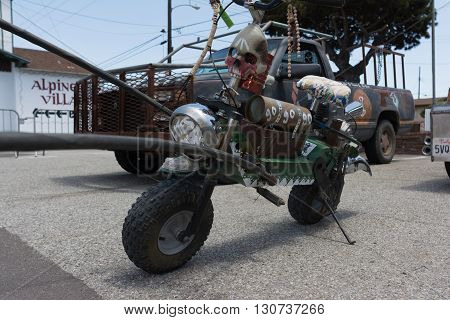 Mini Motorcycle Post-apocalyptic Survival Vehicle
