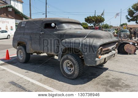 Vintage Delivery Van Post-apocalyptic Survival Vehicle