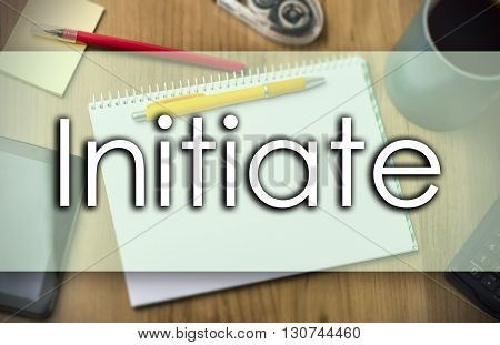 Initiate -  Business Concept With Text