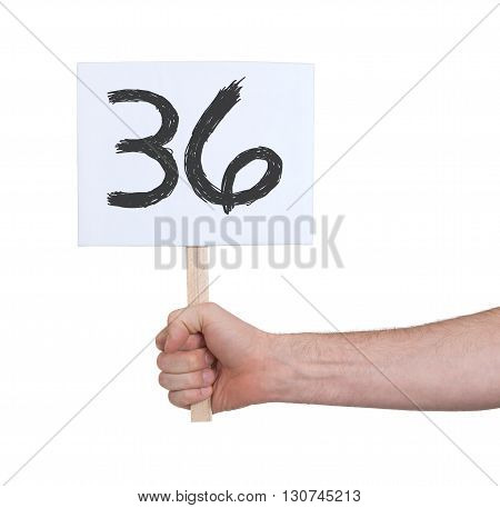 Sign With A Number, 36