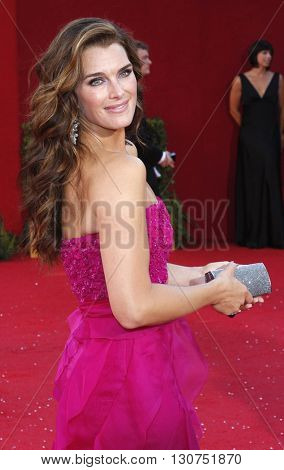 Brooke Shields at the 60th Primetime Emmy Awards held at the Nokia Theater in Los Angeles, USA on September 21, 2008.