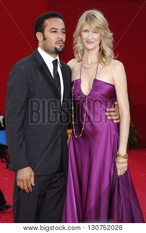 Laura Dern and Ben Harper at the 60th Primetime Emmy Awards held at the Nokia Theater in Los Angeles, USA on September 21, 2008.