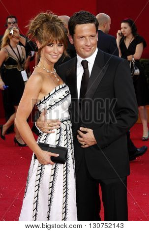 Jennifer Love Hewitt and Ross McCall at the 60th Primetime Emmy Awards held at the Nokia Theater in Los Angeles, USA on September 21, 2008.