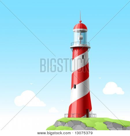 Lighthouse. Detailed vector.