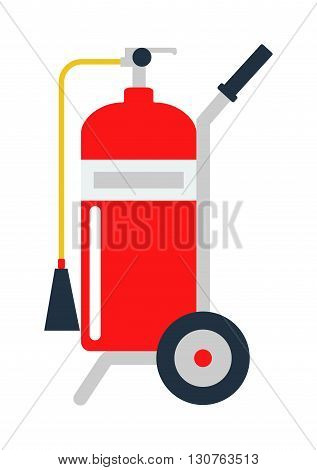 Red fire extinguisher isolated. Fire extinguishers safety red equipment and isolated danger protection emergency fire extinguishers isolated. Firefighter container fire extinguishers isolated tool.