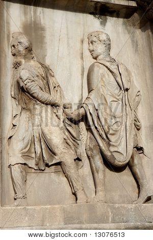 Bas relief of the triumphal arch of Septime Sévère