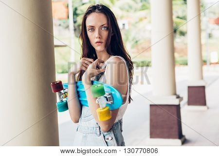 Hipster Girl Posing To The Camera.