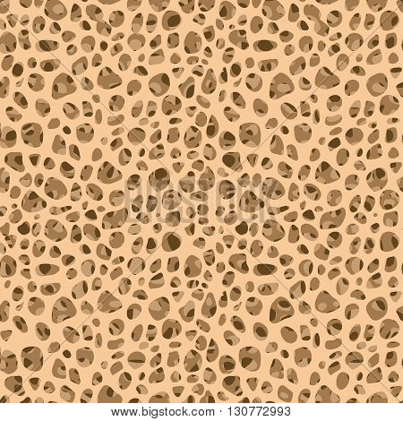 Bone tissue seamless vector pattern. Editable vector illustration. Abstract background in light beige color.