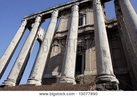 Antonin and Faustine temple in Rome