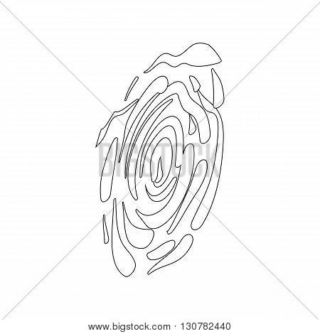 Fingerprint icon in isometric 3d style on a white background