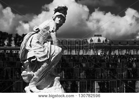 Statue At The Sanssouci Palace Of Potsdam, Germany