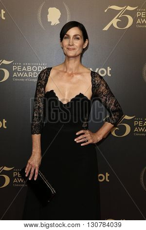 NEW YORK-MAY 21: Actress Carrie-Anne Moss attends the 75th Annual Peabody Awards Ceremony at Cipriani Wall Street on May 21, 2016 in New York City.