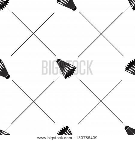 Seamless badminton ball pattern shuttlecock seamless background sport black pattern with birdies can be used for web page backgrounds pattern fills