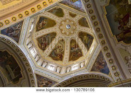 QUARTU S.E., ITALY - July 27, 2013: Vault of the Basilica of St. Helena - Sardinia