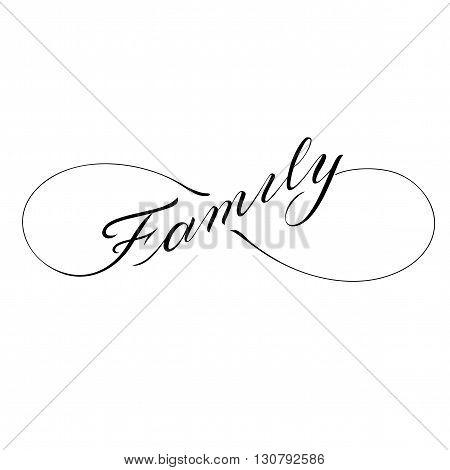 Infinity family icon valentines day vector tattoo symbol