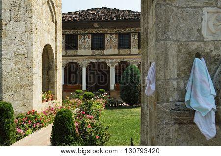 Macedonia, Tetovo, Decorated Mosque a.k.a Šarena Džamija/Xhamia e Pashës
