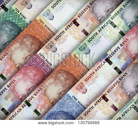 South African Rand Background